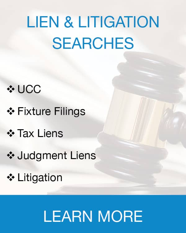 Lien & Litigation Searches